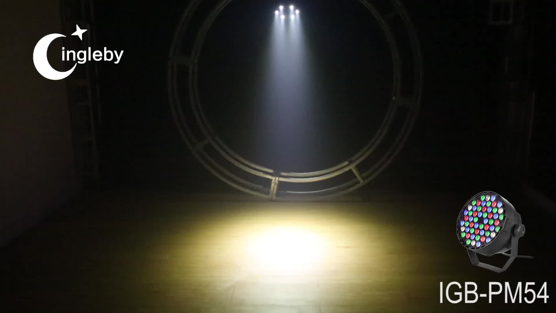 Dongguan factory 54*1w rgb led par strobe light moving head goodwill lighting
