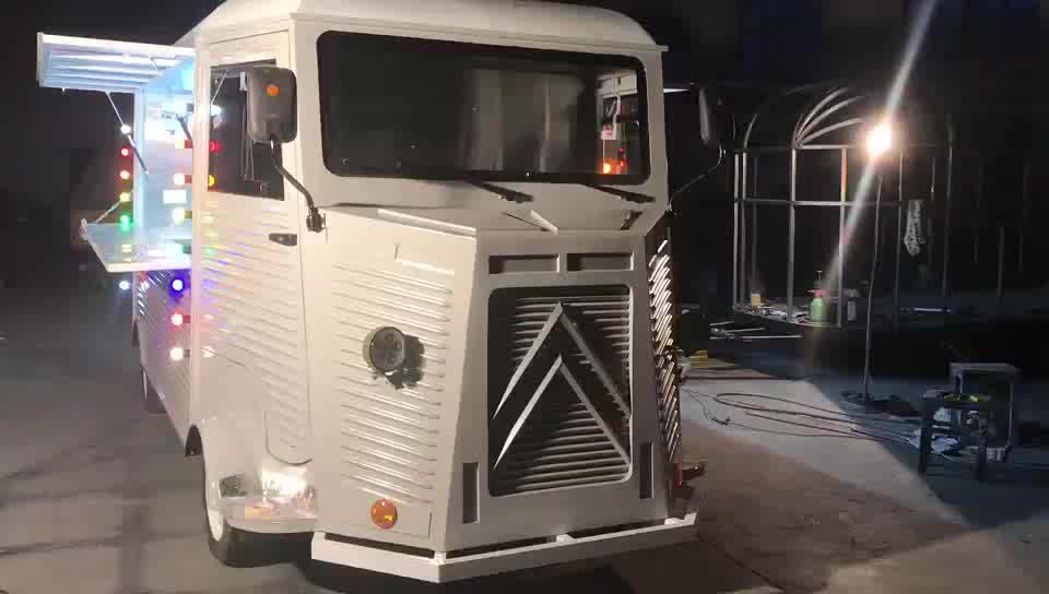 Винтажный пищевой Грузовик Автобус мотоцикл пищевой грузовик Elote Ретро Citroen мобильный фаст-фуд грузовик для европейского рынка
