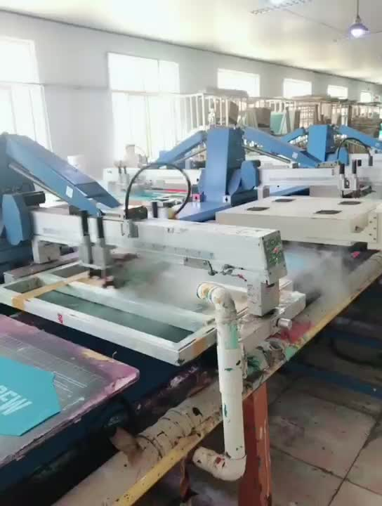 High Quality Oval Automatic Screen Printing  Machine T Shirt Printing  Mass Production Factory