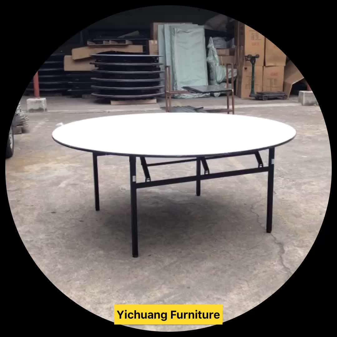 8 Seater Round Dining Table: 8 Seater Folding Round Banquet Dining Tables And Chairs
