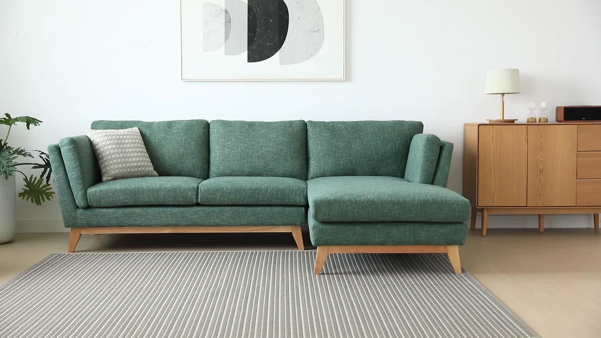 5 niñera tela sofá muebles de sala salón sofaset esquina sofá en forma de l diseño escandinavo moderno y cómodo gris