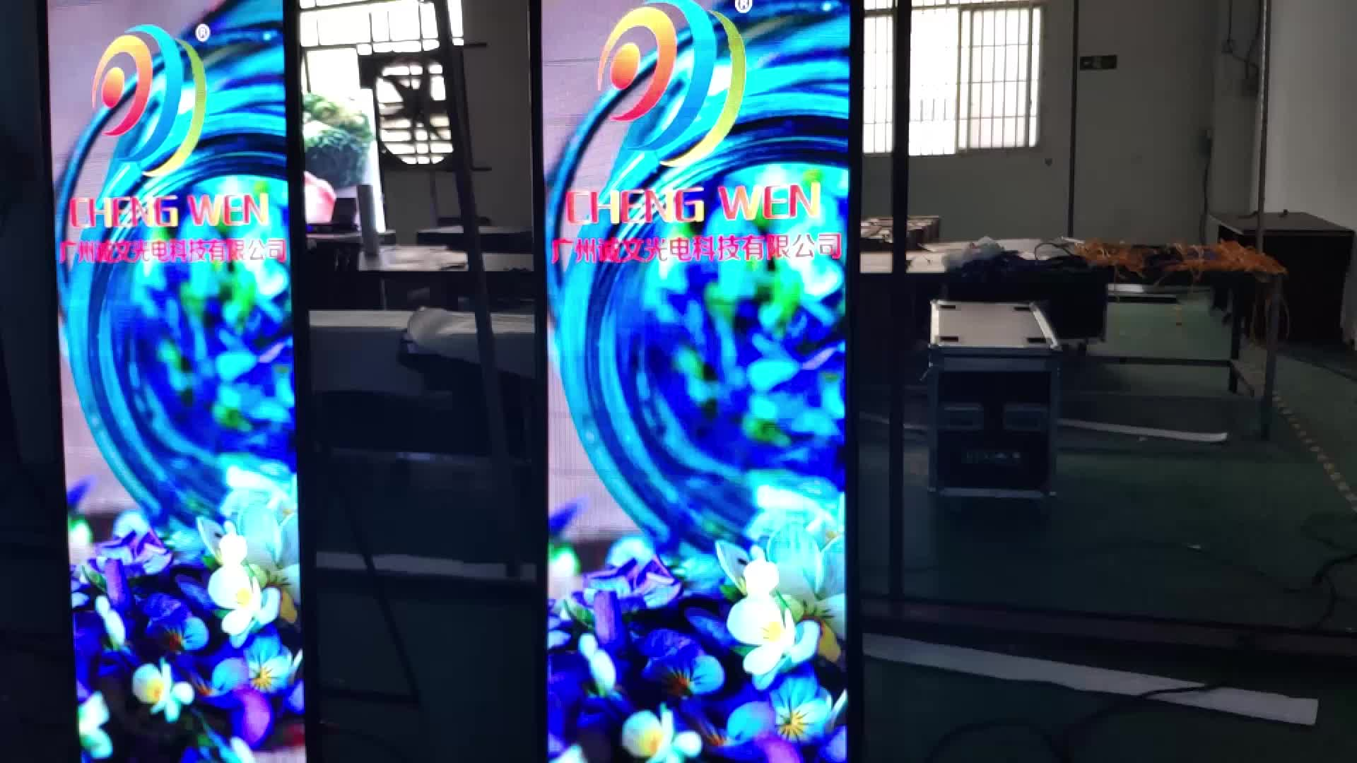 Indoor Poster HD P2.5 LED Display Screen Ultra Thin Interior Full Color High refresh rate