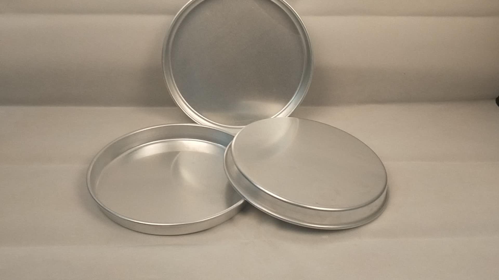 आकार-अनुकूलित एल्यूमीनियम पाक दौर केक पैन/ढालना माइक्रोवेव ओवन के लिए-6 इंच