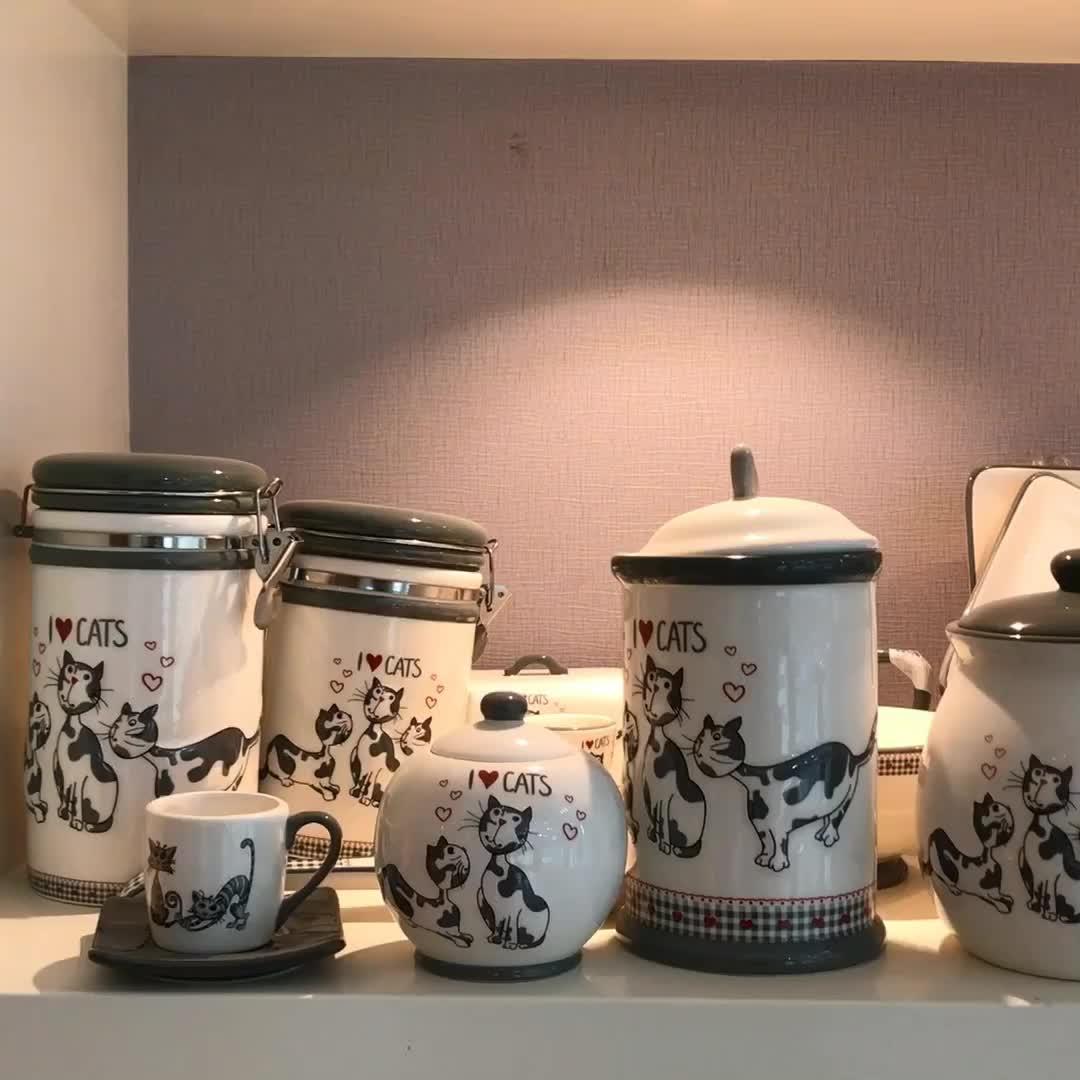 Sob encomenda Do Gato em forma de panelas de Cerâmica ferramenta Da Cozinha Utensílio Titular titular pauzinho de cerâmica