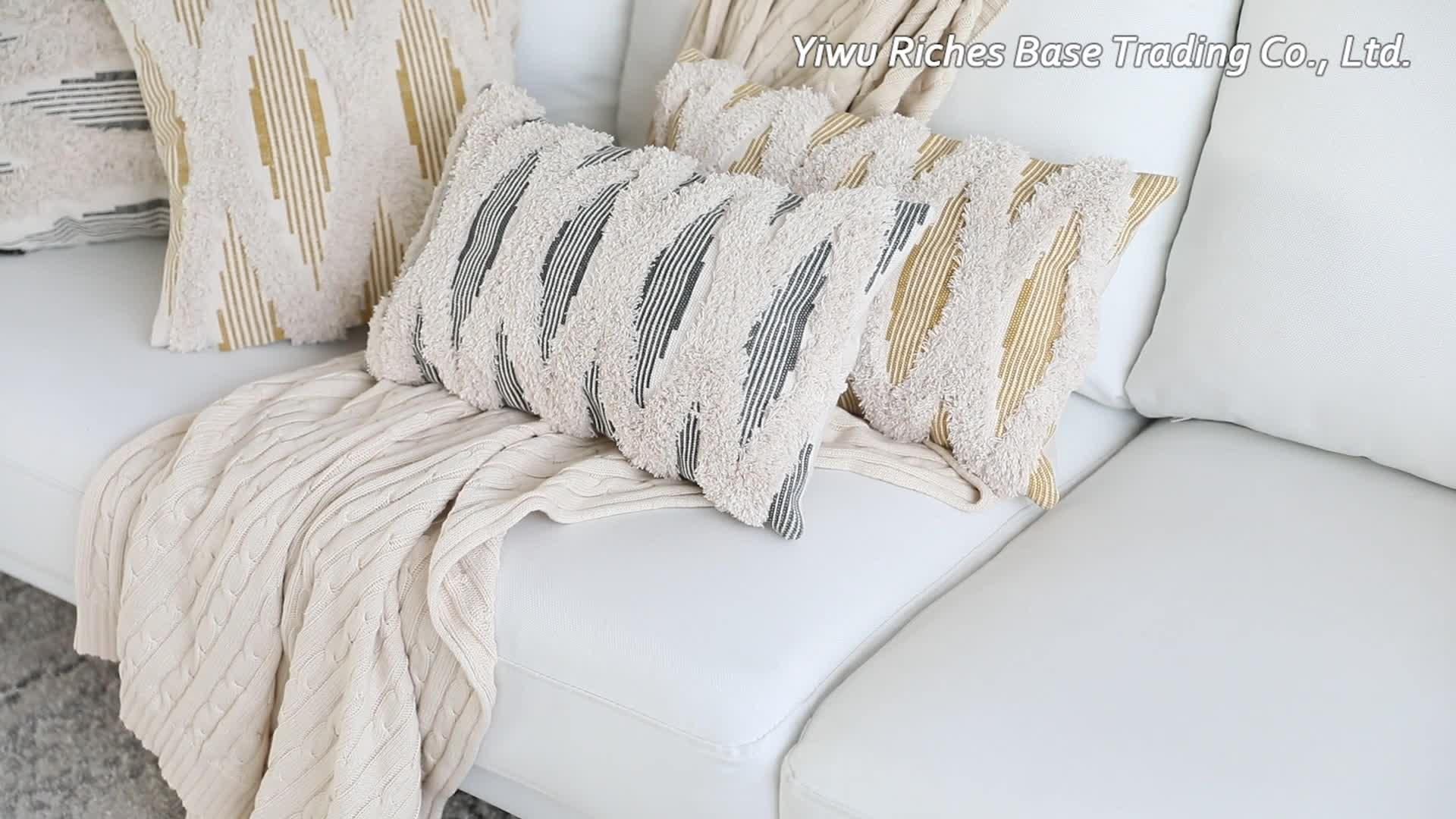 Оптовая продажа, декоративные наволочки в богемном стиле из искусственного меха для гостиной, домашний декор для дивана в стиле бохо, роскошные наволочки для подушек