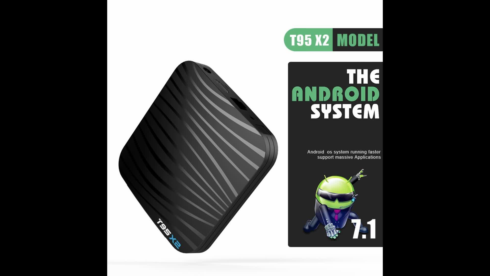 T95X2 Android 8,1 умные телевизоры коробка 2 Гб 16 Amlogic S905X2 поддержка oem 2,4 г wifi Android ТВ коробка T95 X2