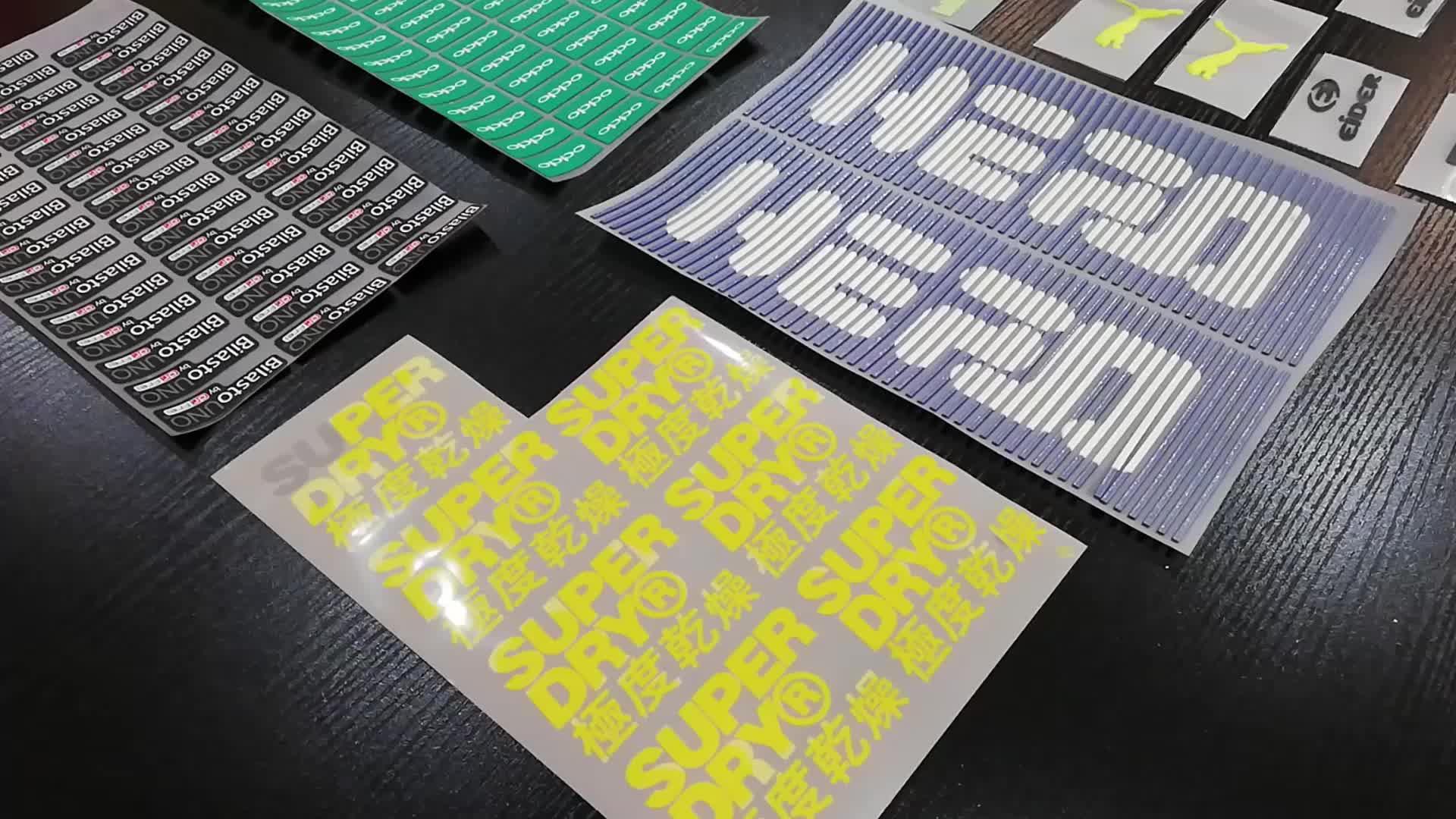 Fábrica de 3D logotipo de la marca de silicona de prensa de calor de etiquetas de transferencia