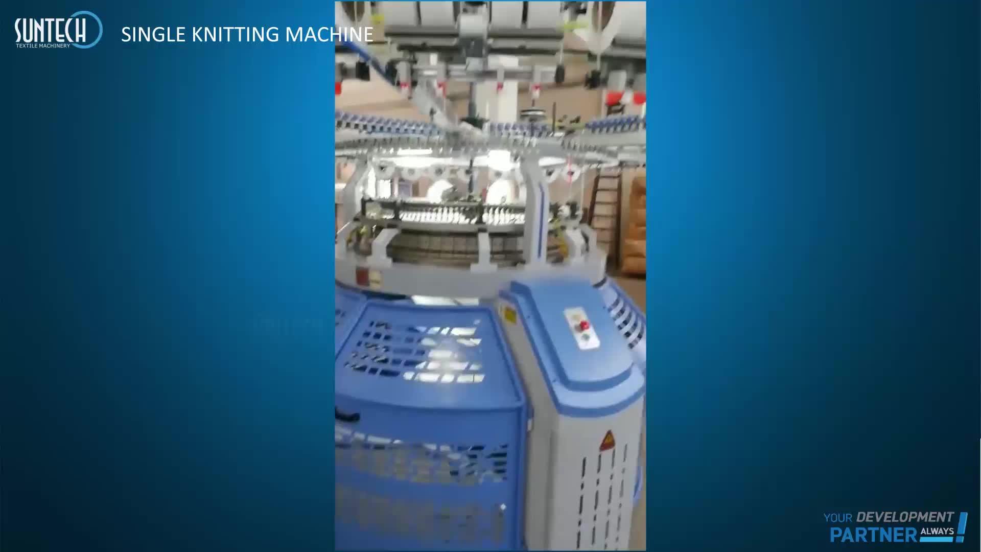 Machine à tricoter circulaire SUNTECH haute vitesse à largeur ouverte en velours