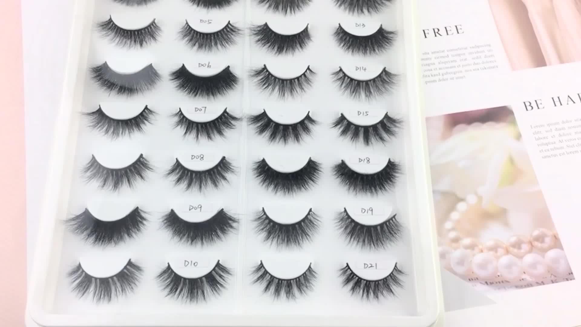 Lower Price Faux 3d Mink Eyelashes False Lashes Private Label Custom Round eyelash box