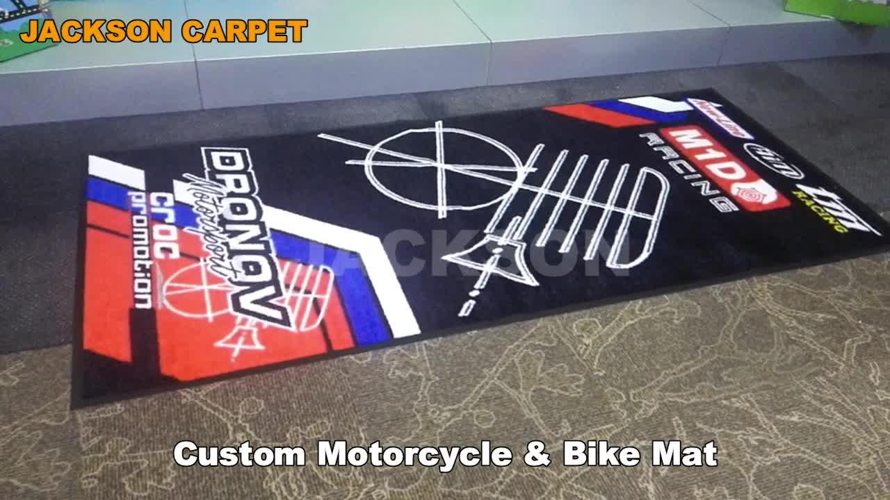 Motorcycle Logo Garage / Bike Workshop Rubber Floor Mat