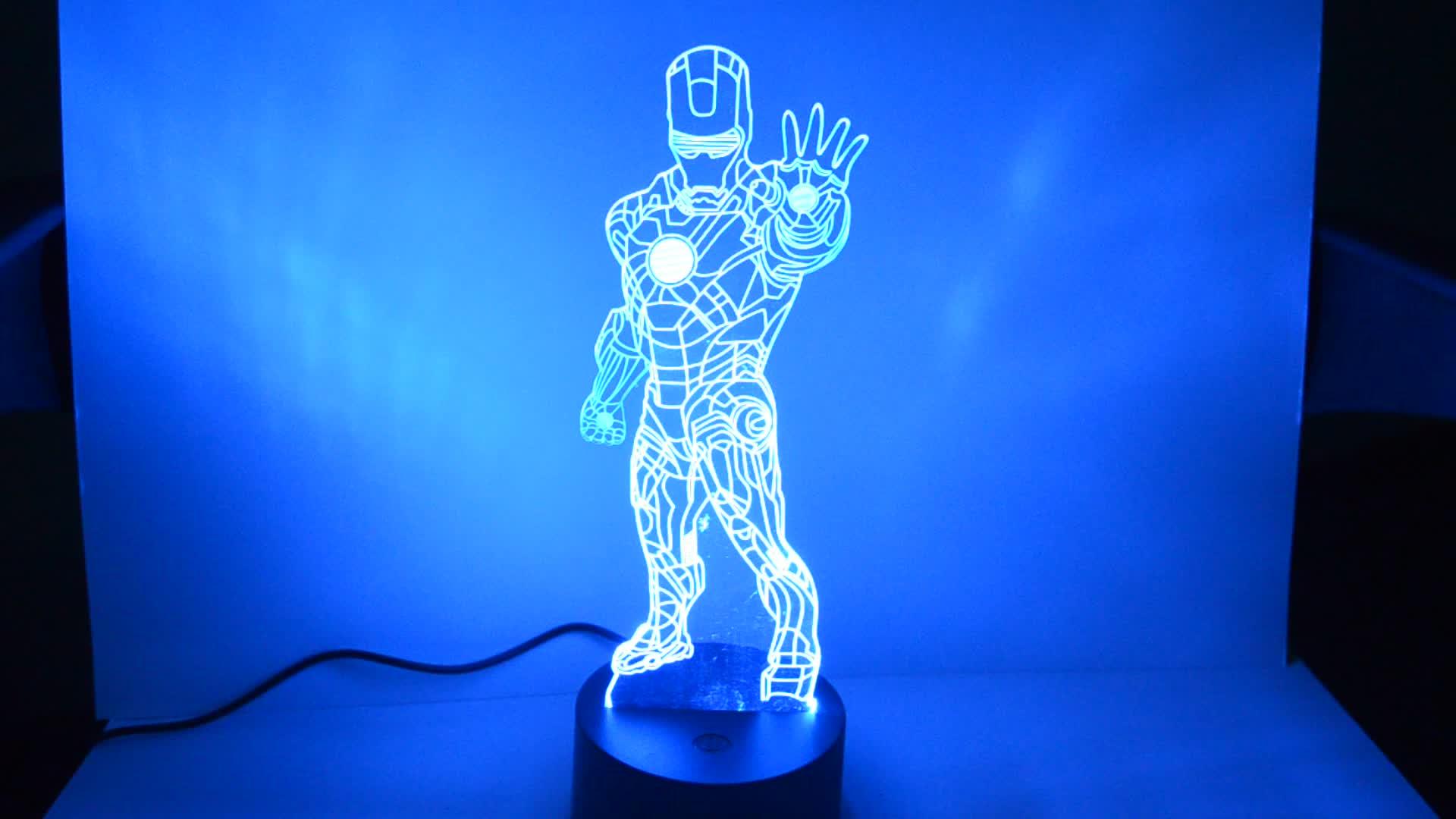 3d led lâmpada candeeiro de mesa de luz da lâmpada presente De Casamento 3d design Personalizado ODM
