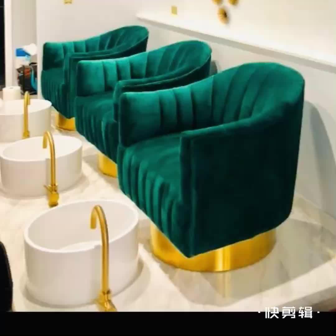 EQUIPO PROFESIONAL DE spa para pedicura, equipo de belleza dorado, silla de spa