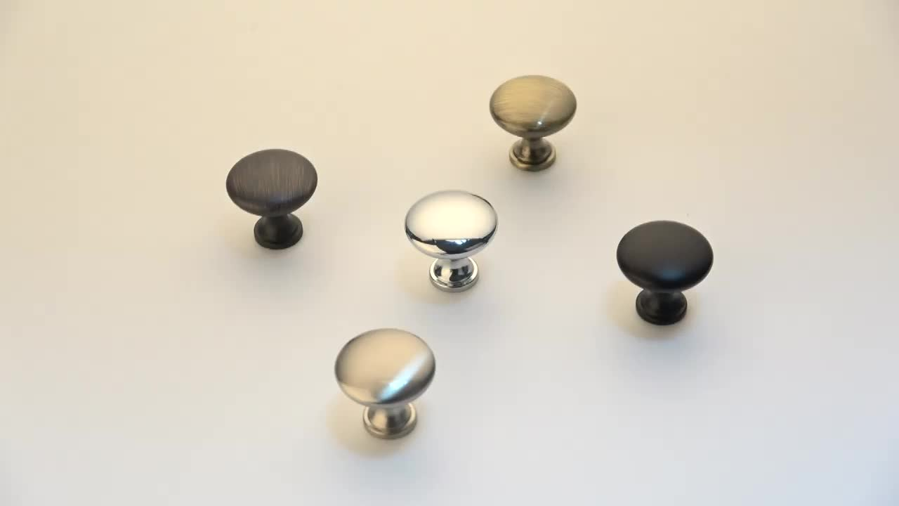 Filta brushed ORB chrome cabinet knobs and pull handles zinc