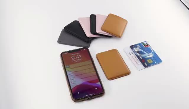 Magsafing फोन के मामले में OEM/ODM के लिए चुंबकीय चमड़ा क्रेडिट कार्ड धारक बटुआ Iphone 12
