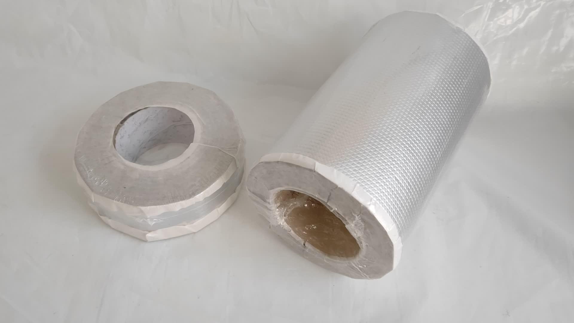 เทปกันน้ำอลูมิเนียมยางบิวทิลเหนียวที่มีประสิทธิภาพเป็นพิเศษสำหรับแผ่นเหล็กสี