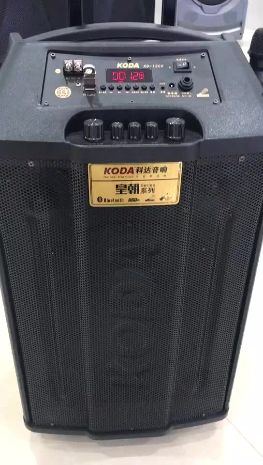 Best price high power 12V  Sound box big battery BT wireless active line array stage trolley speakers