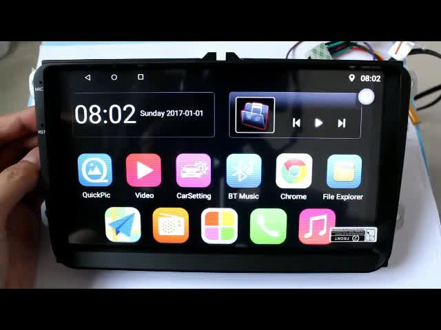 Car Multimedia Player 9001 Android 8.1 2 Din GPS 9 Pollici Wifi Touch Screen Autoradio Per VW/Volkswagen /POLO/PASSAT/Golf