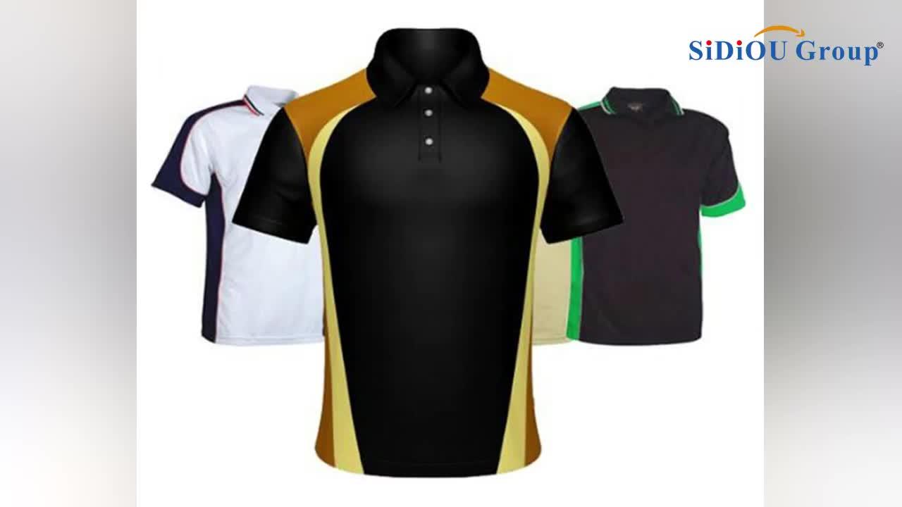 昇華男性ゴルフシャツドライフィットカスタムポロシャツ