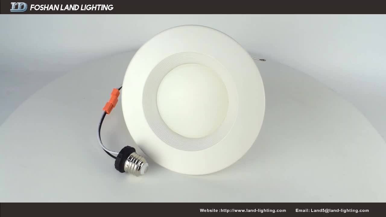 12 W 4 inch ENERGY STAR cETL listed Dimmable LED Downlight Retrofit Recessed Lighting Fixture 3000K Warm White LED Ceiling Light