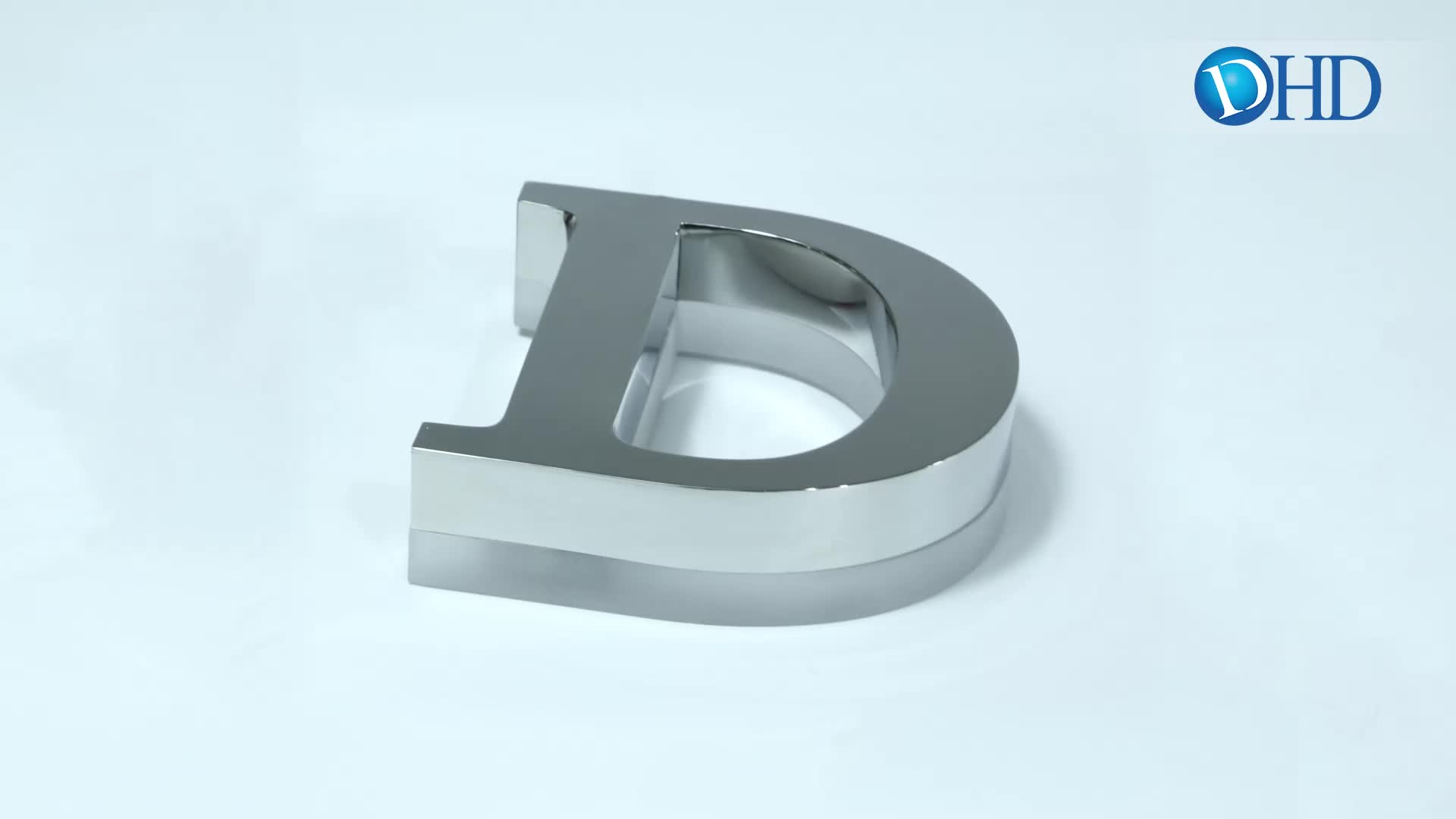 Waterproof 304 stainless steel 3D logo letter led backlit sign