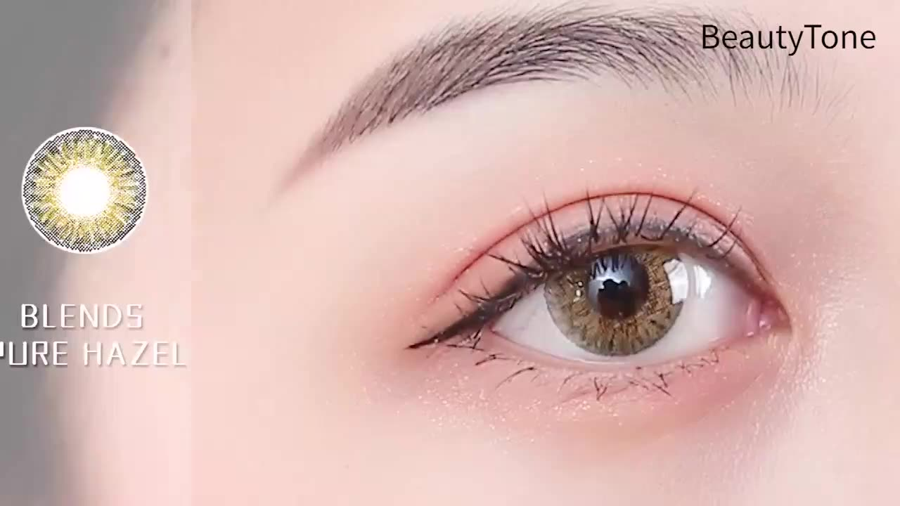 HOT High quality 12 colors available cosmetic comfortable wholesale color contacts fresh looking 1 year colored contact lenses