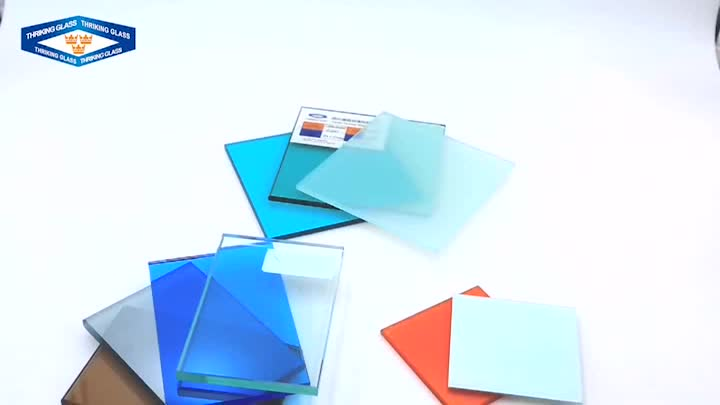 Custom size 12mm insulated laminated safe building glass roof panels