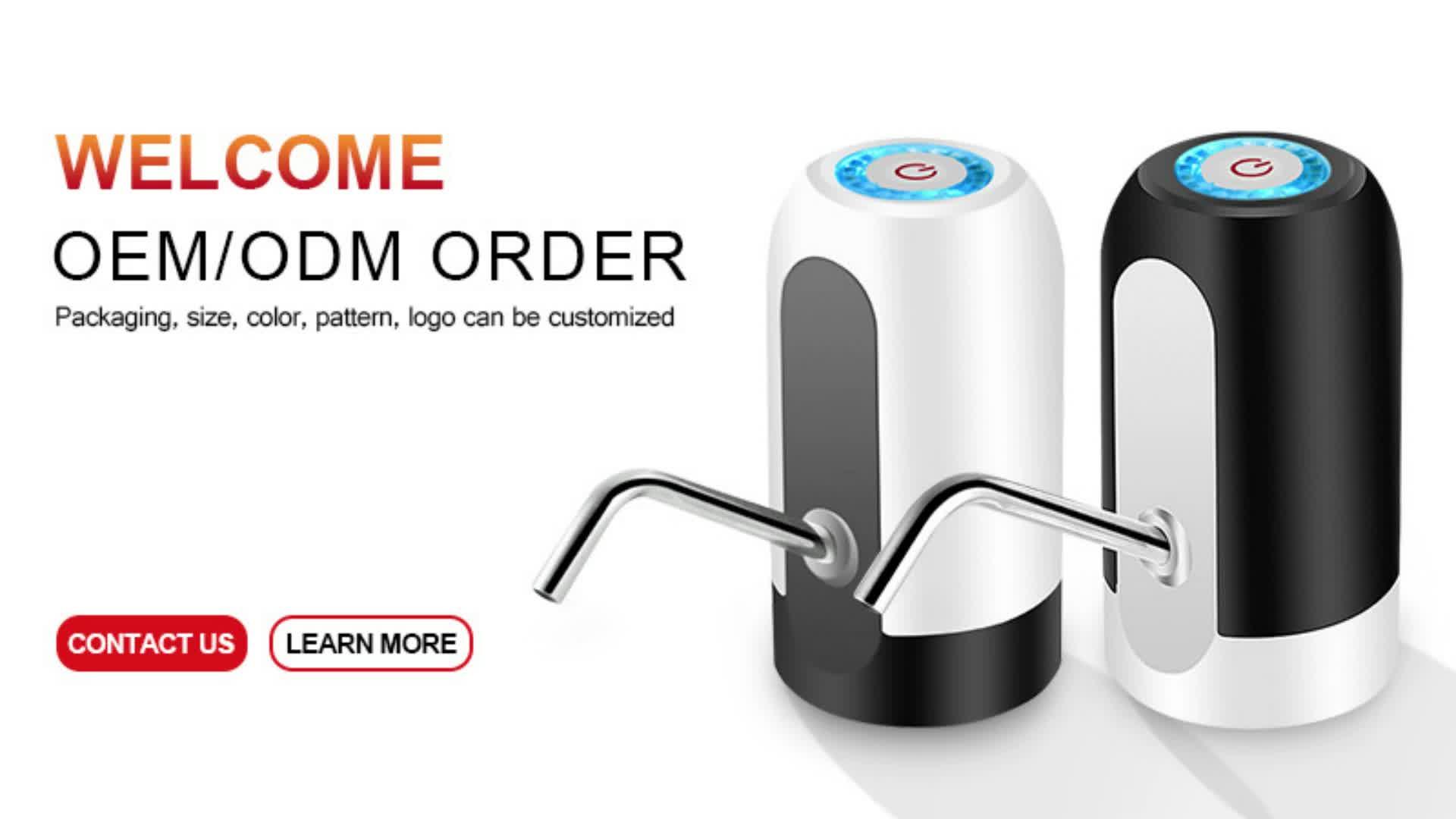 Al por mayor venta al por mayor nuevo eléctrica de aire de carga de USB inalámbrico portátil automática del Motor de botella de bomba de agua