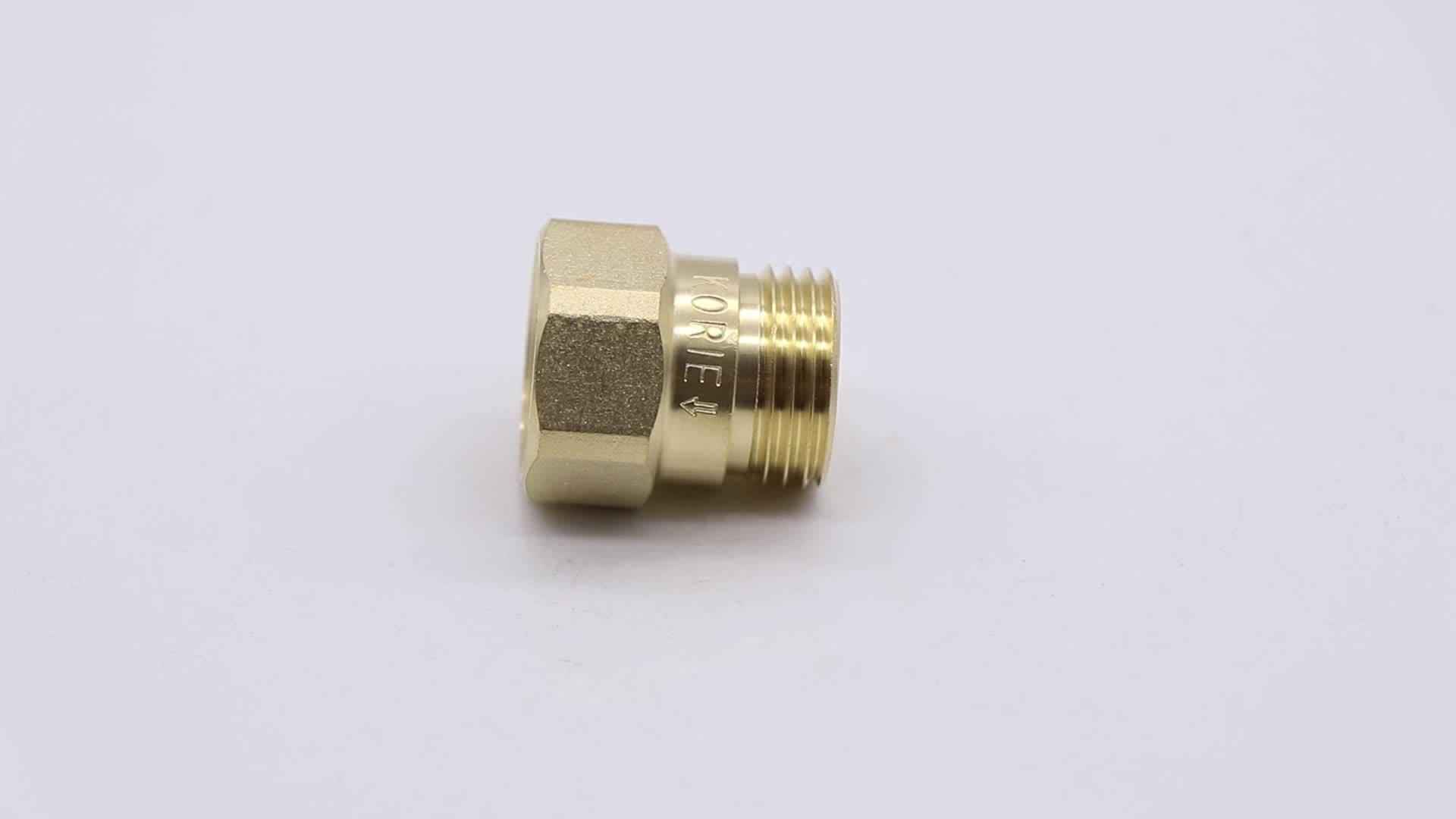 "One-way pipe joint, OV32 OV40 OV50 1.2"" 1.5"" 2"" size internal copper wire to external copper wire one-way valve cut-off valve"