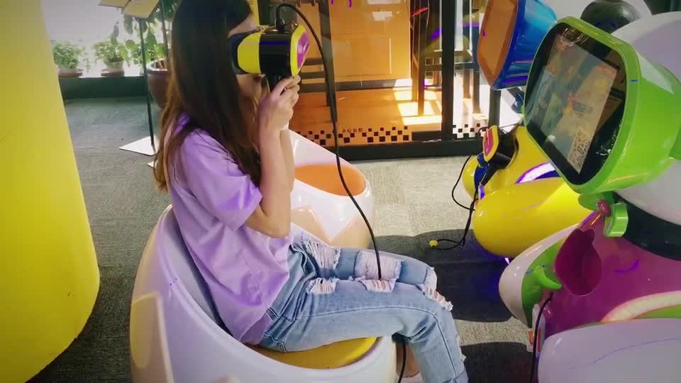 360 derece video el düzenlenen gözlük 9d oyun makinesi çocuklar jetonlu oyun makinesi çocuklar vr oyunları vr çocuk vr eğitim