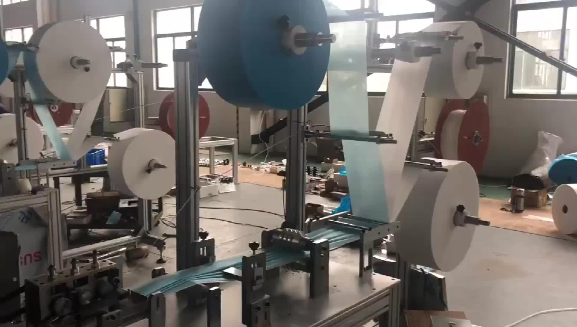 Haitel üç katmanlı tek kullanımlık cerrahi maske üretim hattı maskesi makinesi ile fabrika