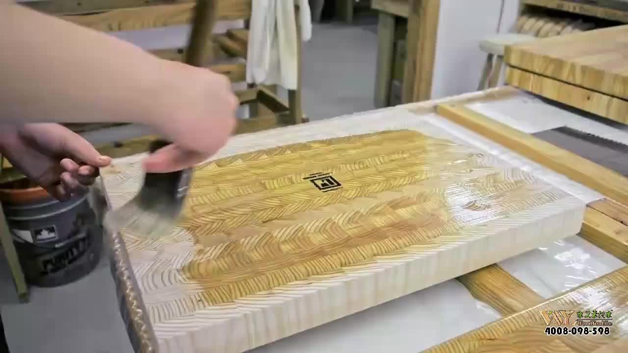 Katı ahşap sonu tahıl ceviz kesme tahtası/100% ahşap kesme tahtası meşe/akçaağaç/tik ağacı