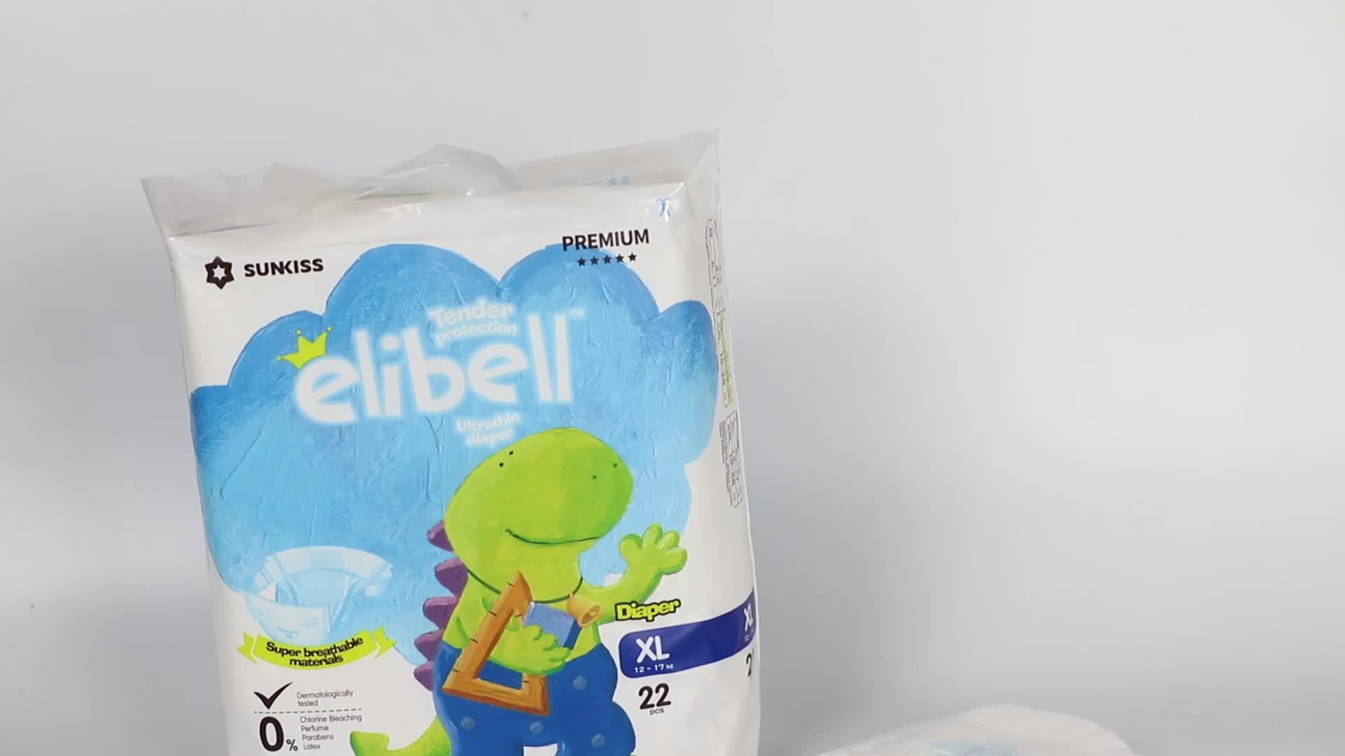 wholesale nice package Elibell baby diaper manufacturer