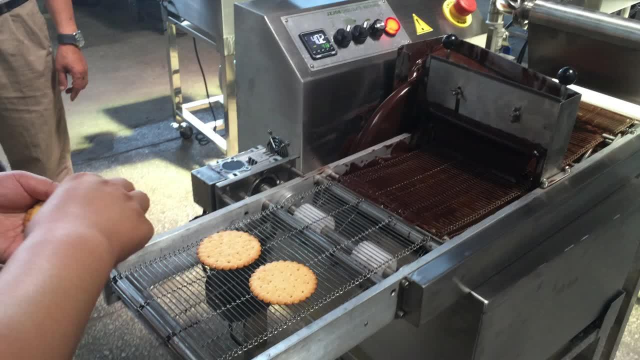 초콜릿 녹는/템퍼링/몰딩 machine/chocolate 글레이징 기계