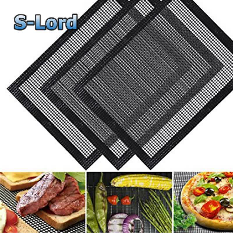 Teflon Non Stick BBQ Grill Mesh Grillen Netto Rooster Mat voor Oven Magnetron Houtskool Barbecue