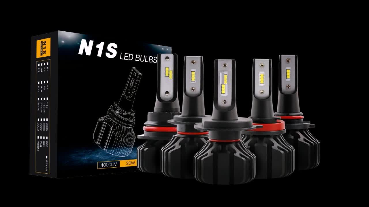 NOUVEAU led voiture lumière N1 S1 led phare voiture H7 H11 9006 9005 H4 phare mené automatique