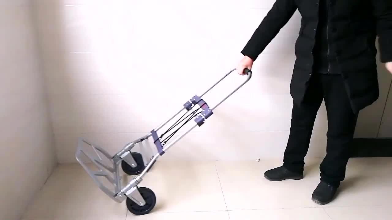 Two-wheel 150 Kgs lightweight steel foldable hand trolley for sale