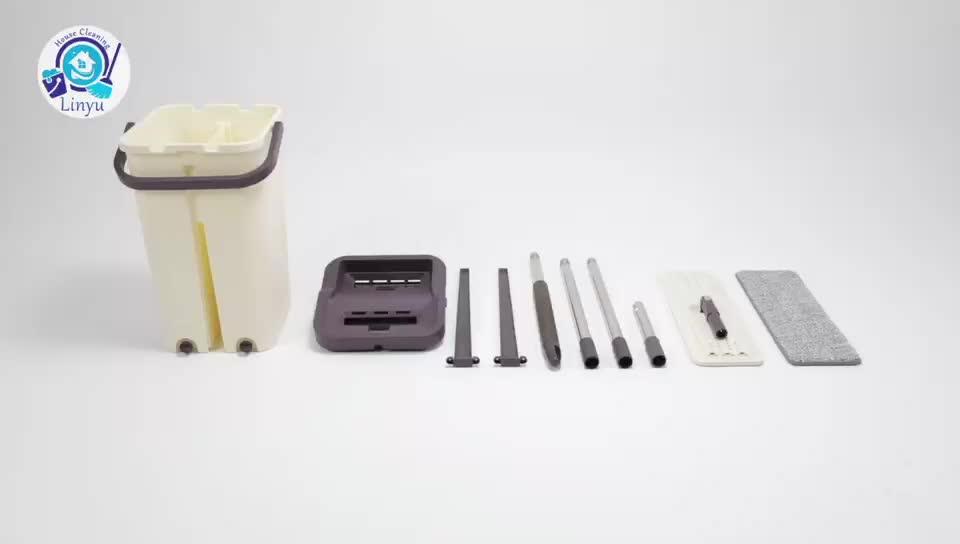 Mão Livre Fácil de Usar Auto-washed Magia Mop Plano, mop com balde, balde de limpeza mop
