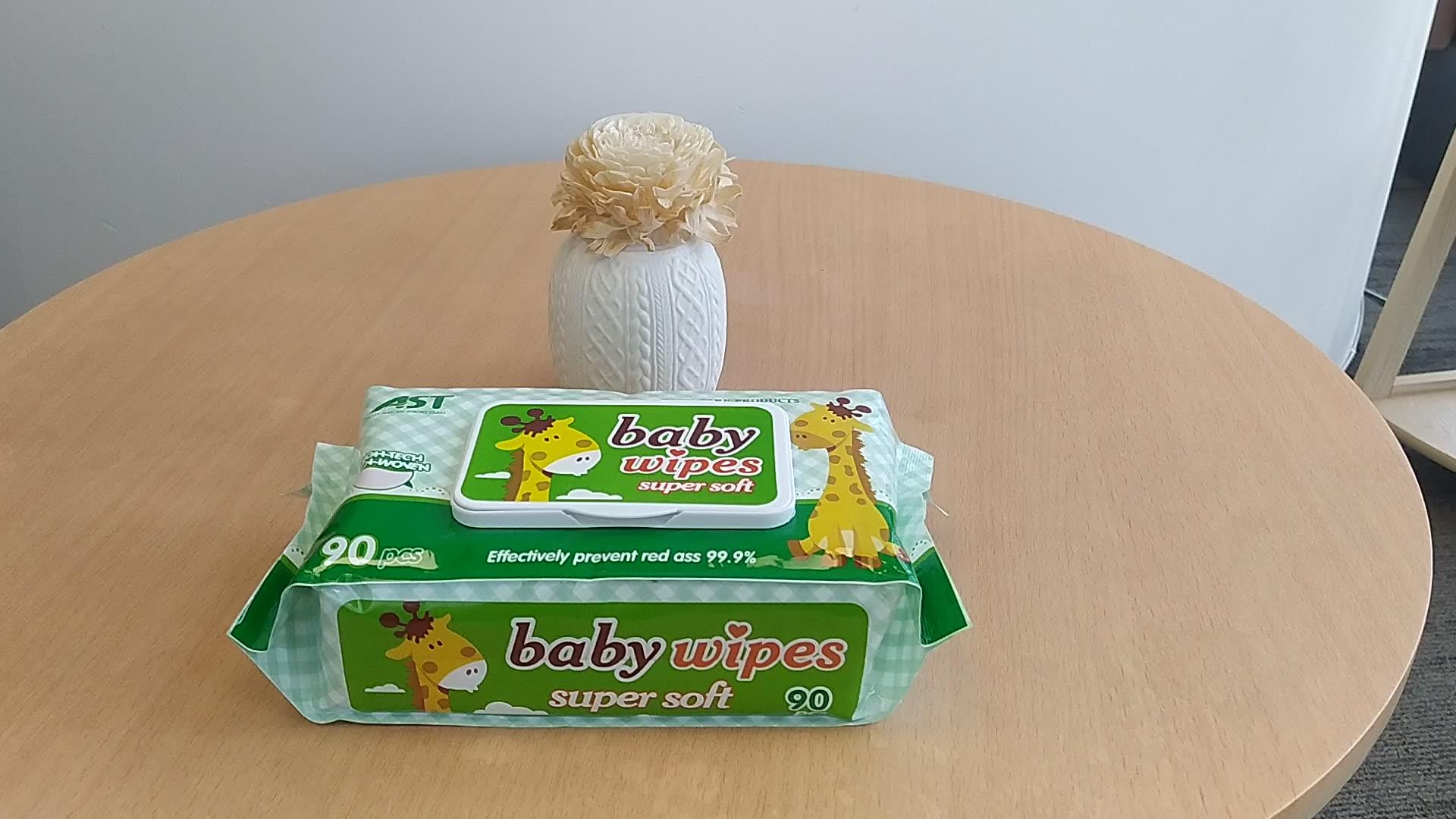 Organic Non Perfume Water Pure N Gentle Babies Custom Cute Oem Babi Wipe Baby Wet Wipes