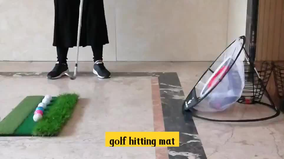 Golf Training Set, Portable & Foldable Practice Hitting Net Indoor Outdoor Bag Golf Chipping Net