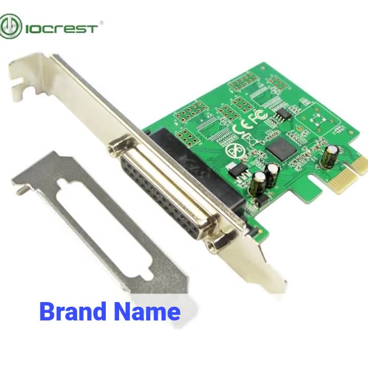 IOCREST Factory direct supply Asix chipset 1 Parallel DB25 port PCIe Card Printer port i/o controller card