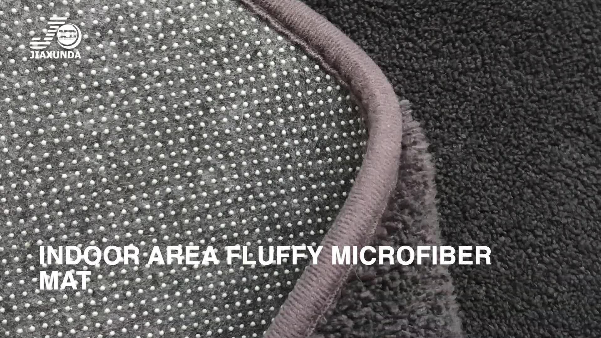 Zone intérieure moelleuse imprimée petit tapis tapis tapis de sol en microfibre pour chambre