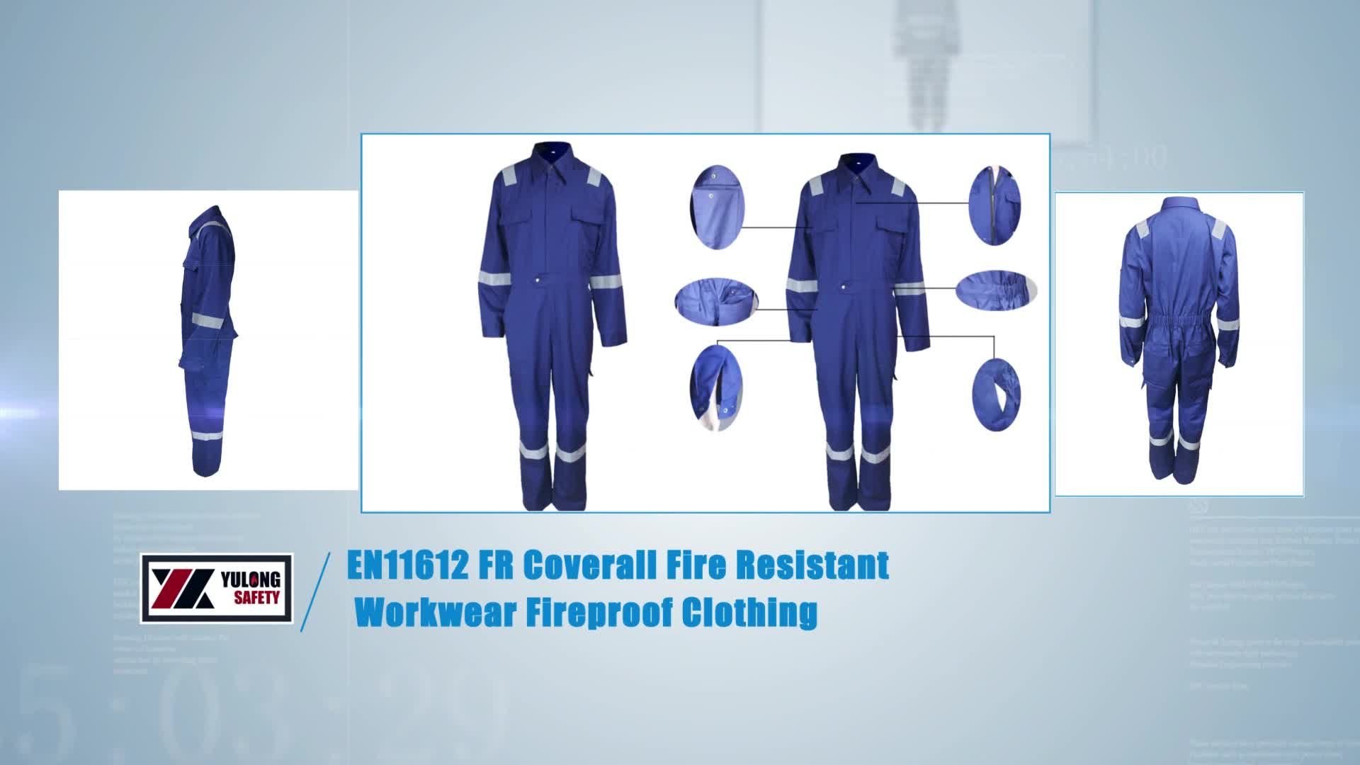 Industrial Durable Fire Retardant Oil Workers FR Flameproof Clothing NFPA2112