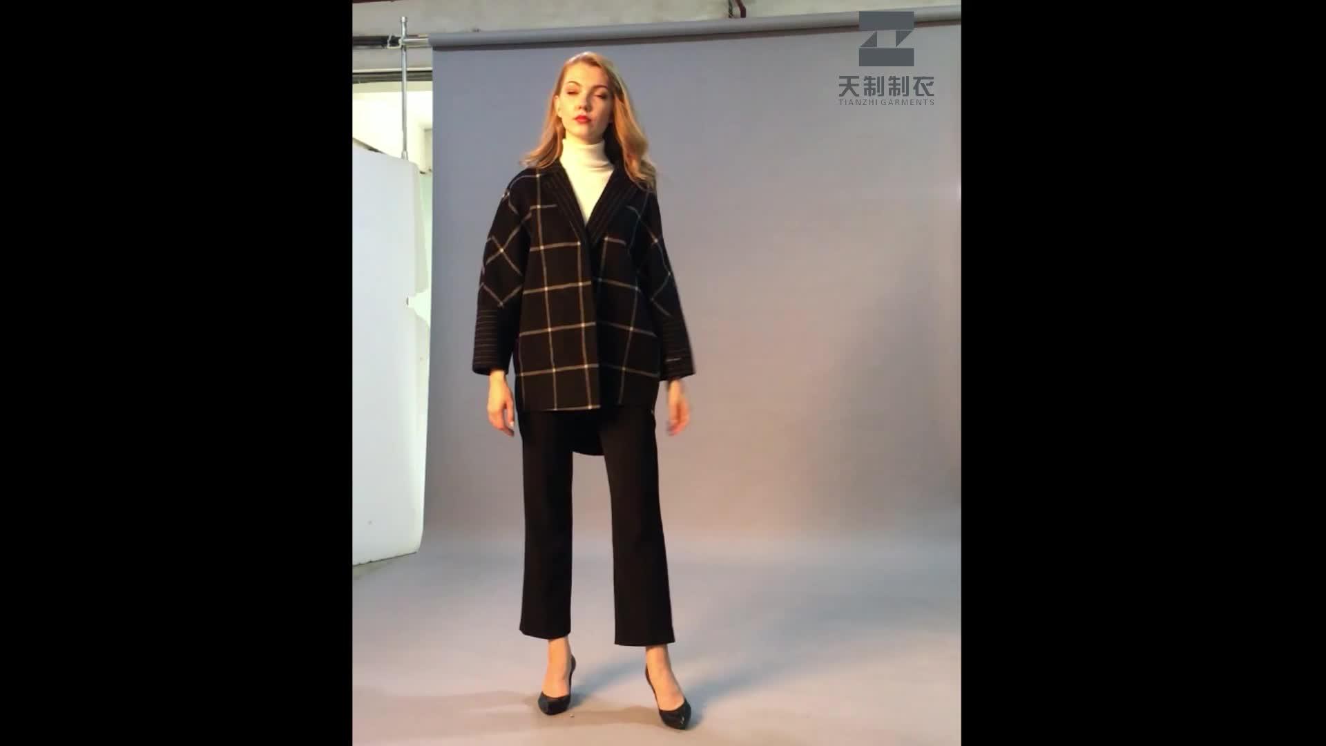 Quality and quantity assured woolen winter fashion women woolen coat