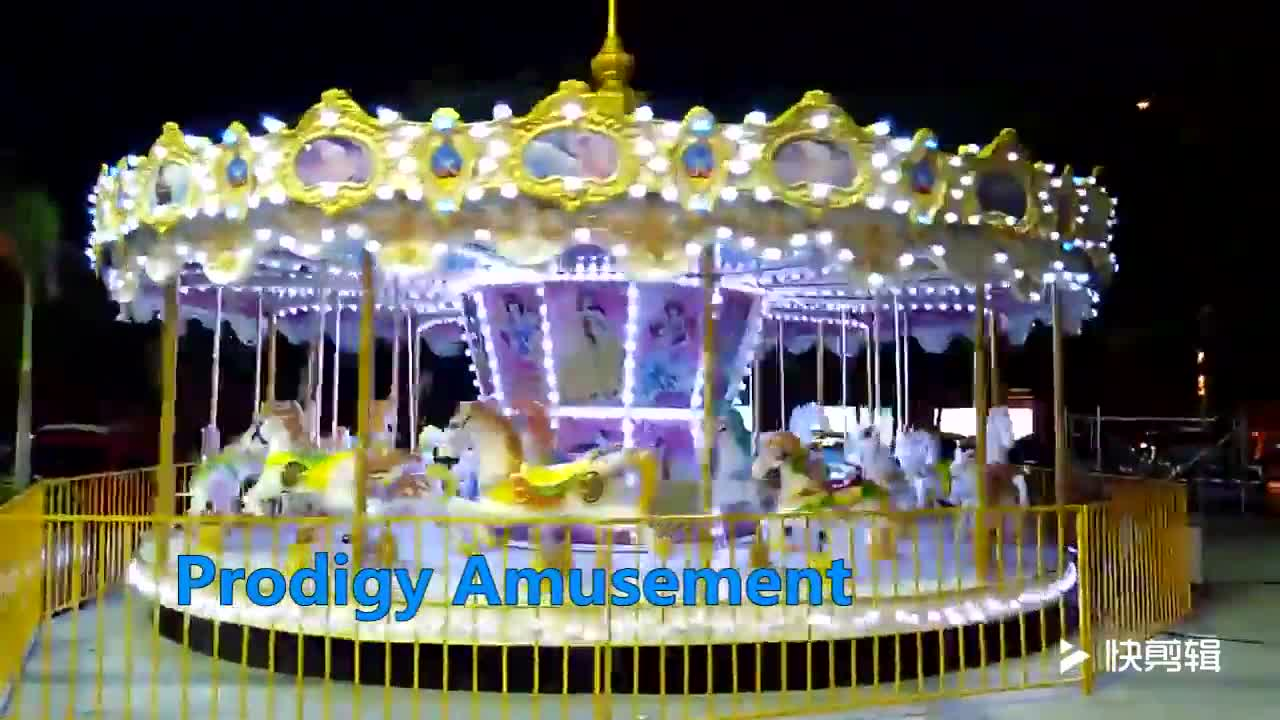 new amusement park rides 24 seats cheap carousel