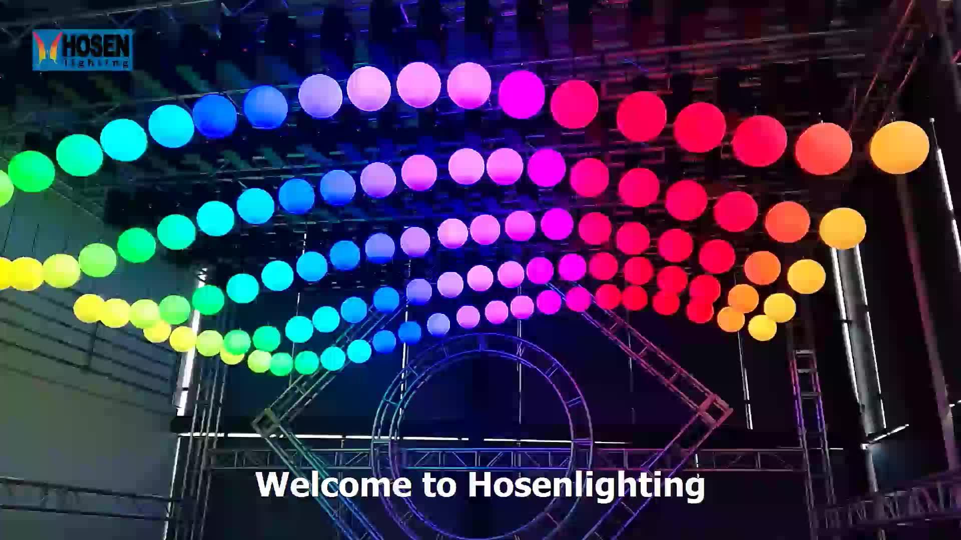 dmx led lift color ball kinetic power led Kinetic Lighting 3D Ball lifting light 9M with 35cm ball