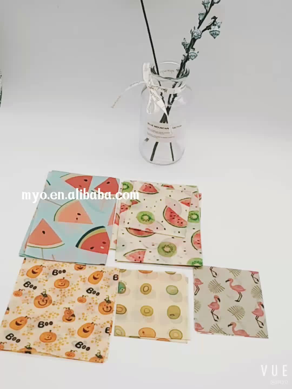 2019 Cera D'api wrap per il pranzo pacchetto panino & food wrap set riutilizzabile