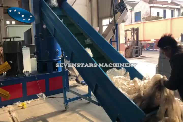 plastic agglomerator for shrink packing films polythere films