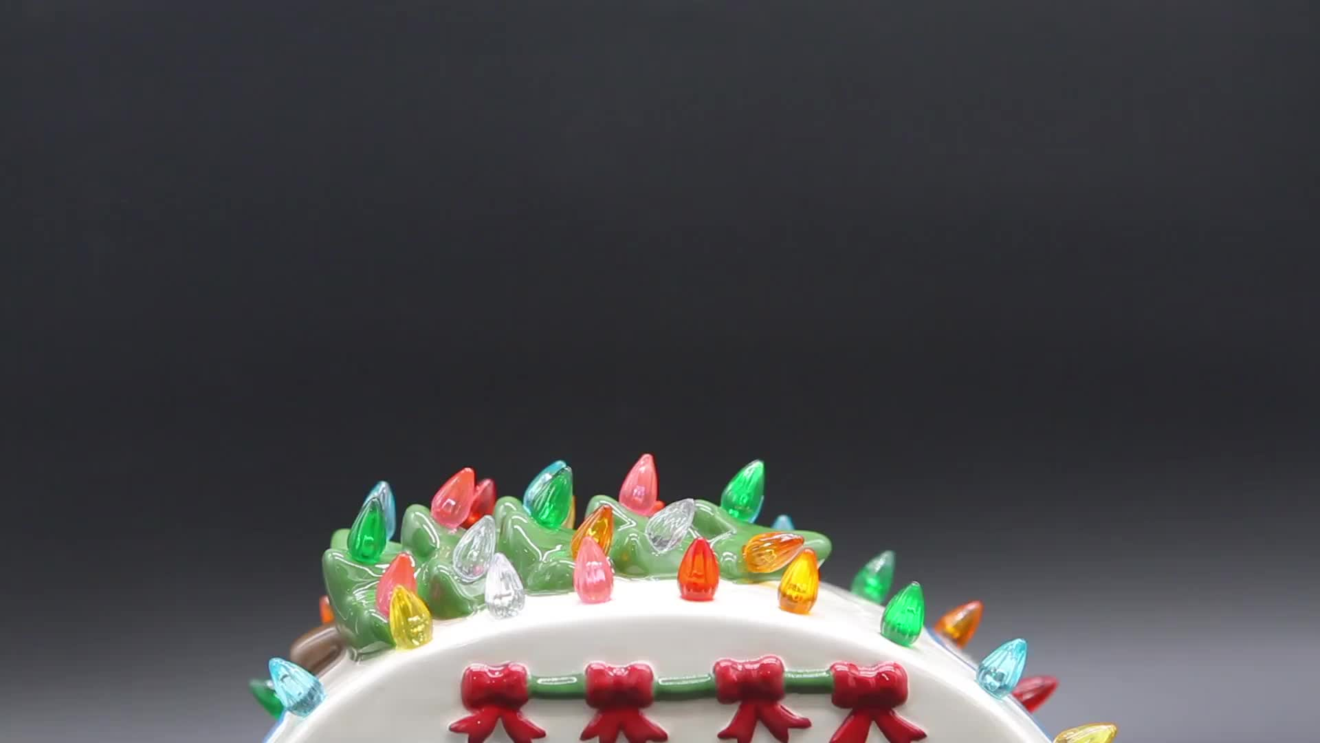 Holiday indoor decorative led christmas decoration light with cute car shape