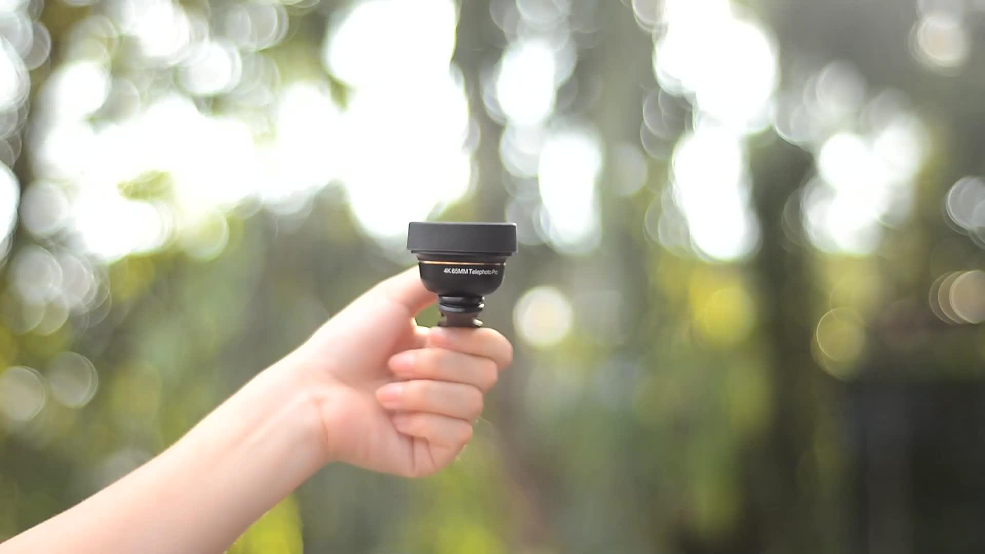 Apexel ブランド 65 ミリメートルプロ新到着モバイル望遠レンズ携帯電話プロポートレート