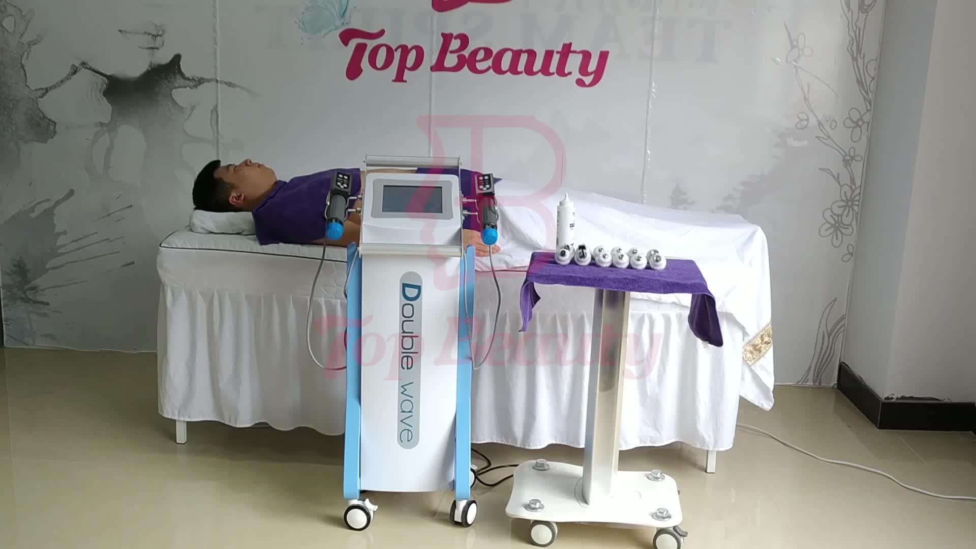 Doppio canale elettromagnetica shockwave terapia fisioterapia attrezzature di riabilitazione